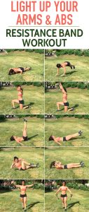 Light Up Your Arms And Abs Resistance Band Workout Born To Sweat