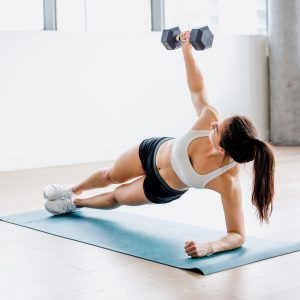At Home Dumbbell Ab Workout! 5 exercises that you can do in the comfort of your own living room - all you need is two dumbbells. Try out these unique exercises.